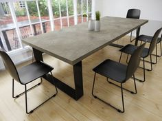 Concrete Tables dining side island bench coffee by MattsBenches