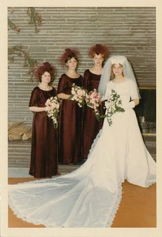 Brides dream about having the most appropriate wedding ceremony, however for this they need the ideal wedding dress, with the bridesmaid's dresses actually complimenting the brides dress. These are a few tips on wedding dresses. Save Money Wedding Tips. Vintage Wedding Photos, Vintage Bridal, Vintage Weddings, Wedding Pictures, 1970s Wedding, Wedding Attire, Wedding Bride, Wedding Tips, Wedding Beach