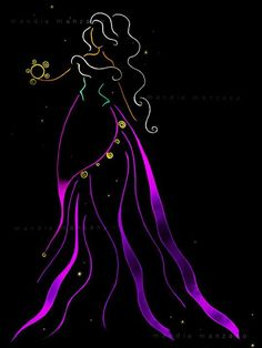 Disney Ribbon Art - Esmeralda - The Hunchback of Notre Dame