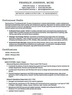 System Administrator Resume Includes A Snapshot Of The Skills Both Technical And Nontechnical