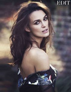 Keira Knightley dons off-the-shoulders for Net-A-Porter's The Edit // Photo by David Bellemere