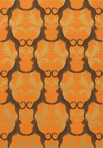 $105 Cheetah Wallpaper - Orange