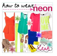 """""""- how to wear: N E O N (:"""" by the-polyvore-tips-xo ❤ liked on Polyvore featuring Vero Moda, H&M, Paprika, Hollister Co., Jeffrey Campbell, Abercrombie & Fitch, Sally&Circle, Converse, Wet Seal and Lori's Shoes"""