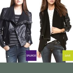 Rank & Style Blog | To Splurge or To Save: Draped Leather Jackets #rankandstyle