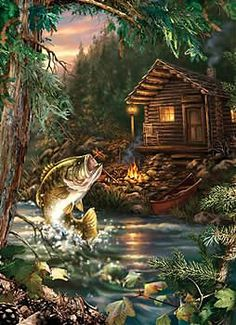 Gone Fishing jigsaw puzzle by Masterpieces