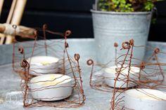 Oravanpesä | DIY: Metallilankahäkkyrät