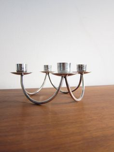 Danish Silver Plate Candelabra or Candle Holder  by ModernSquirrel, $32.00