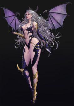 the world of digital art High Fantasy, Fantasy Rpg, Fantasy Girl, Fantasy Character Design, Character Art, Character Ideas, Fantasy Characters, Female Characters, Female Demons