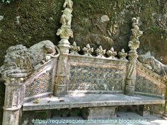Simbolos, Bancos, Quinta da Regaleira, Sintra Portugal, Landscapes, Wealth, Tower, Monuments, Benches, Paisajes, Scenery