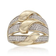 .45 ct. t.w. Diamond Triple-Band Ring in 14kt Yellow Gold