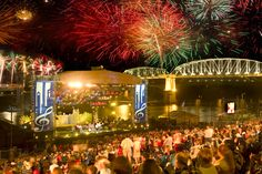Music City, Nashville, Tenessee, USA: July 4 One of the biggest 4th of July festivals, with fireworks and country music.