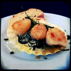 Smoked Scallops with seaweed #scallops #bbq #foodlover #foodstagram #foodblog