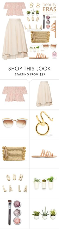 """""""Neutrals for summer"""" by lidia-solymosi ❤ liked on Polyvore featuring Miguelina, Alexander McQueen, Maria Black, Loeffler Randall, Ancient Greek Sandals, Kate Spade, Bare Escentuals, Improvements and Victoria's Secret"""