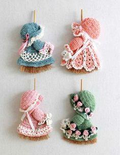 various broom dolls