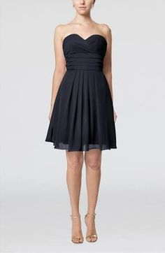 Navy Blue Unique Party Dress Simple Pretty A line Western Semi Formal