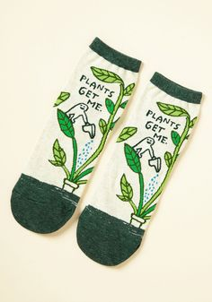 We Can Work It Sprout Socks. Something on your mind? #green #modcloth
