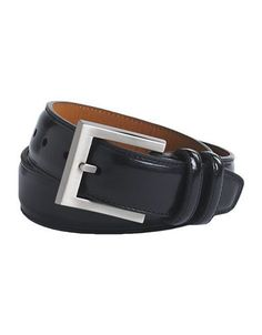 Lord & Taylor Kids BOYS 8-20 Leather Belt  Black 30