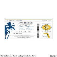 Florida Save the Date Boarding Pass Magnetic Card Destination Wedding Invitations, Wedding Invitation Design, Passenger Tickets, Beach Date, St Pete Beach, Wedding Save The Dates, Beach Resorts, Boarding Pass, Card Making