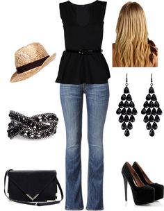 """""""Concert Outfit 1"""" -  minus super high heels, something a bit lower by oinocencio on Polyvore"""