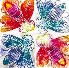 Bug Collagraph print. Artsonia Art Museum :: Artwork by Sample164