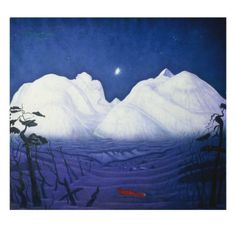 size: Giclee Print: Harald Oscar Sohlberg Wall Art by Harald Oscar Sohlberg : Artists Framed Artwork, Framed Prints, Art Prints, Wall Art, Art For Sale Online, Online Art, Mountain Art, Winter Night, Cool Posters