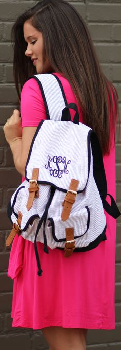 BY FAR the cutest backpack to take with you to school, adventures, or just an afternoon hangout!!