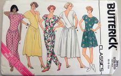 80s Dress and Jumpsuit pattern  Butterick by retroactivefuture, $9.00