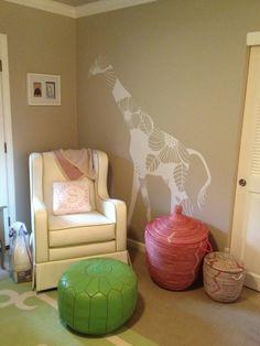 love the giraffe... so whimsical #projectnursery #franklinandben #nursery