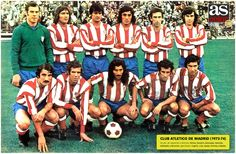 1973-74-ATLÉTICO DE MADRID International Football, Team Photos, Football Team, Soccer Teams, Big Men, Fc Barcelona, Retro, Sports, Image