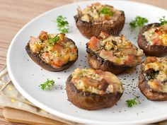 Baked Portobello Mushrooms - I often bake mushrooms (minus the ham ;) )
