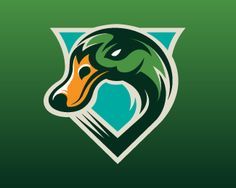 Quad City Mallards by Matt Kauzlarich, via Behance Hockey Logos, Sports Team Logos, American Hockey League, Duck Logo, Team Mascots, Quad Cities, Bird Logos, Mundo Comic, Logo Design