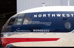 """Flight deck section of Boeing C-97G Stratofreighter 53-0200 / N79797 repainted to represent Northwest Airlines Boeing 377 Stratocruiser N74607 """"Stratocruiser Honolulu"""""""