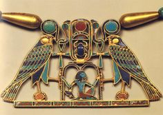 Pectoral Sesostris II localizado en la tumba de la princesa Sit-Hathor-Yunet. Arte egipcio, Imperio Medio