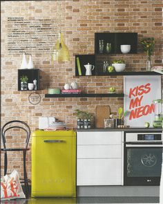 Funky kitchen shelving