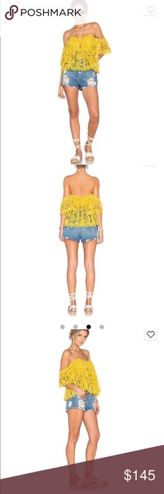 Yellow Tularosa top from Revolve I wore this shirt once for a festival. It's in brand new condition. It's girly and perfect for summer! Still on sale at Revolve for 168 Tularosa Tops