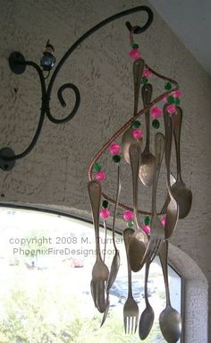 Utensil/Cutlery Wind Chimes (Forks and Spoons) by PhoenixFireDesigns, via Flickr