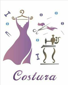 Sewing Art, Sewing Rooms, Hanger Logo, Logo Boutique, Little Girl Drawing, Painted Wooden Boxes, Branding Design, Logo Design, Foto Transfer
