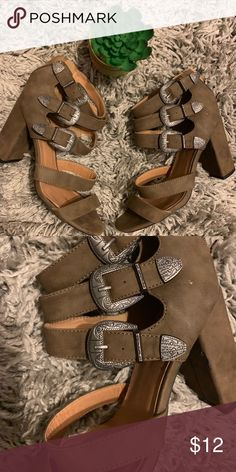 77406476eb68f Qupid Bohemian Style Heeled Sandals Hardly worn Note  small distress shown  on inner side of