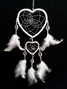 Heart-shaped Dream Catcher with Feathers