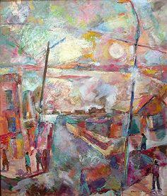 """""""Urban Landscape"""" cityscape - oil painting"""