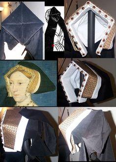 Seymour Gable Hood by keiriel on DeviantArt Costume Renaissance, Medieval Costume, Renaissance Fashion, Medieval Dress, Elizabethan Fashion, Tudor Fashion, Tudor Costumes, Period Costumes, Historical Costume
