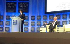 ダボス会議での開会式での安倍総理のスピーチが始まった。アベノミクスの説明からだ。表情がとても良い。日本人として誇りだ。
