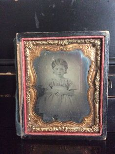 Antique Daguerreotype Photograph Panel of a 19th Century Girl | 1800's Ambrotype 1/6th Plate - Small Girl by aniadesigns on Etsy