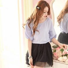 Buy 'Tokyo Fashion – Elbow-Sleeve Beaded Chiffon Top' with Free International Shipping at YesStyle.com. Browse and shop for thousands of Asian fashion items from Taiwan and more!