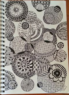 zentangle circles | As you can see with this design I did the same by doing the circles ...