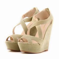 b994f6072990ed New women s pumps high heels sandals shoes women wedge peep toe platforms  gladiator cross strap shoes