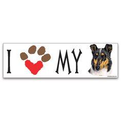 [Bumper Sticker] - I Heart My Smooth Coat Collie