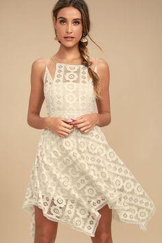 Free People Just Like Honey Beige Lace Dress