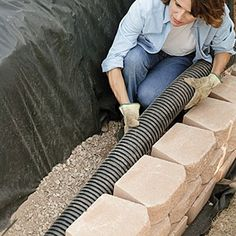 step by step how to build a retaining wall DIY by L.Williams