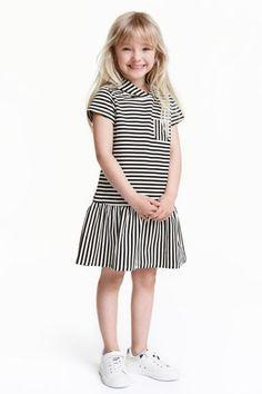 Tricot jurk met kap | H&M